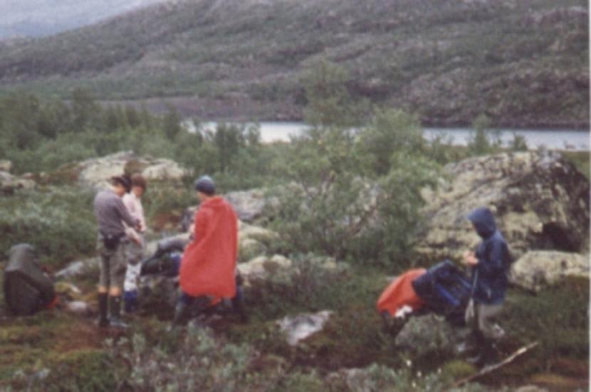 Im Sarek. Lappland-Trekking. Sarek-Tour 1983