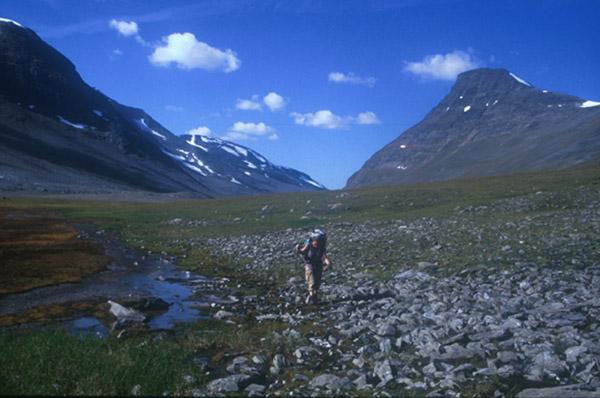Sarek 2002. Im östlichen Teil des Kuopervagges.
