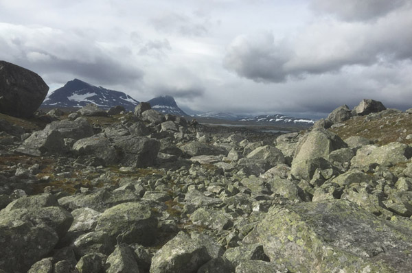 Sarek 2017. Die Kassalakko bietet vor allem Steine.