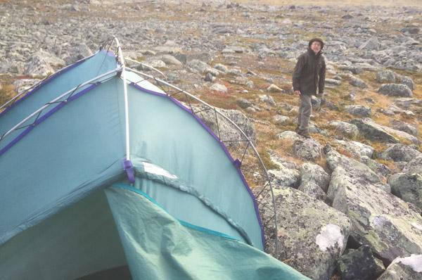 Sarek 2017. Noch steht das Zelt am Atjek.