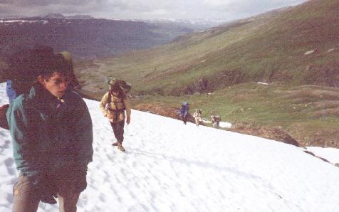 Sulitjelma 1990. Aufstieg zum Pass.