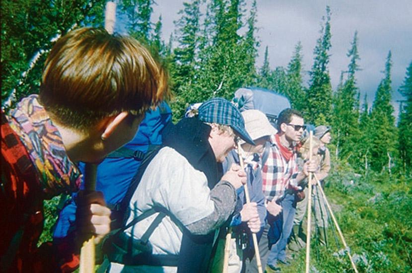 Lappland 1995. Unterwegs in der Nähe von Kvikkjokk.