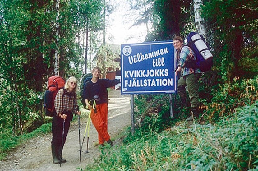 Sarek 1996. geschafft - Ankunft in Kvkkjokk.