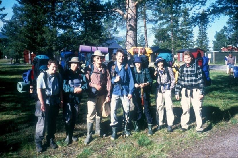 Sarek 2000. Gruppenbild vor dem Start.