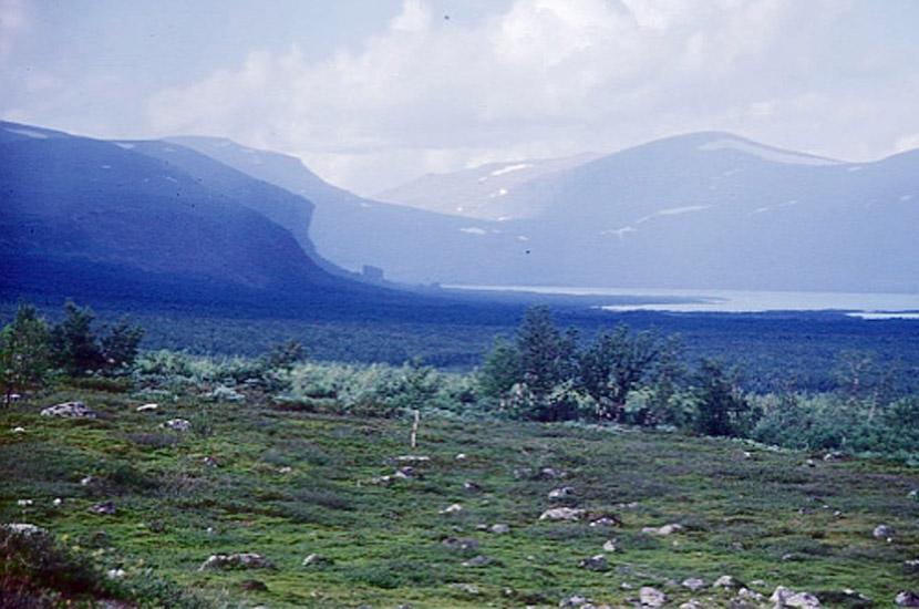 Sarek 2000. Blick nach Norden über den Sitojaure hinweg.
