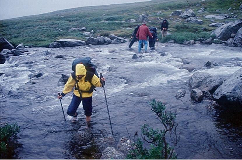 Sarek 2000. Wasser von oben und von unten.