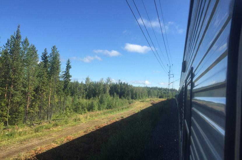 Sarek Aneise per Bahn